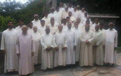 Community with new Prior. Rev. Fr. Jerome Naduvathaniyil OSB