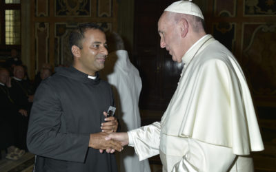 Prior. Rev. Fr. Jerome OSB with Pope Francis
